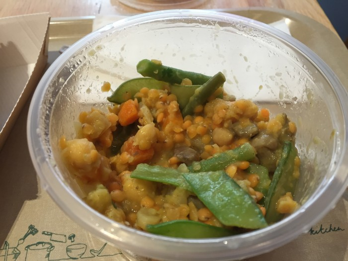 Coconut red lentil and veg curry