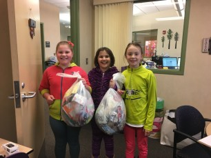 3 Quincy Students With Their Spring Cleanup Bags!