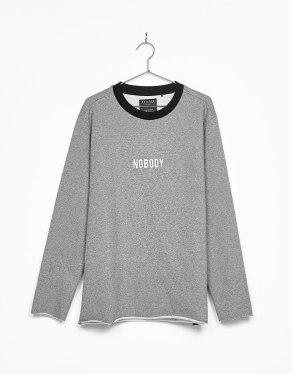 'Nobody' Embroidered Sweatshirt