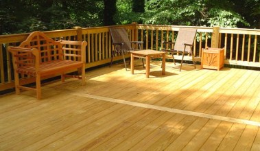 Deck made with Pressure Treated wood