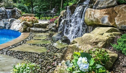 Waterfalls with Dry Creek Bed - quinju.com