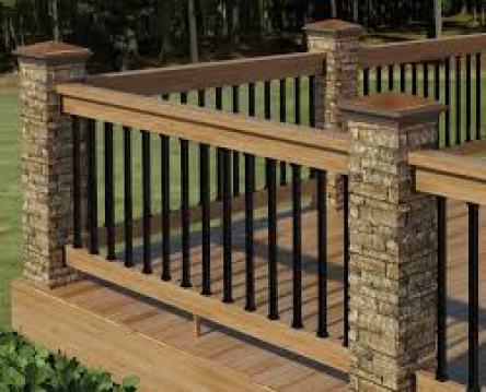 stone faux railing posts