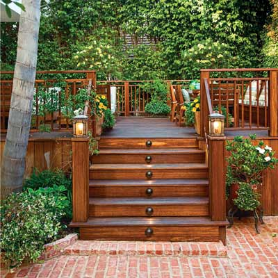 Outdoor deck stairs to finish your project - quinju.com on Backyard Patio Steps  id=19096