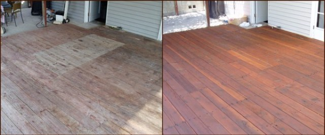 Before and After - Deck Staining - quinju.com