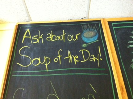 Soup of the Day at Quinns Cafe