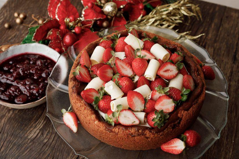 Cheesecake chocolate branco, encomendas Ceia de Natal Quintana 2020