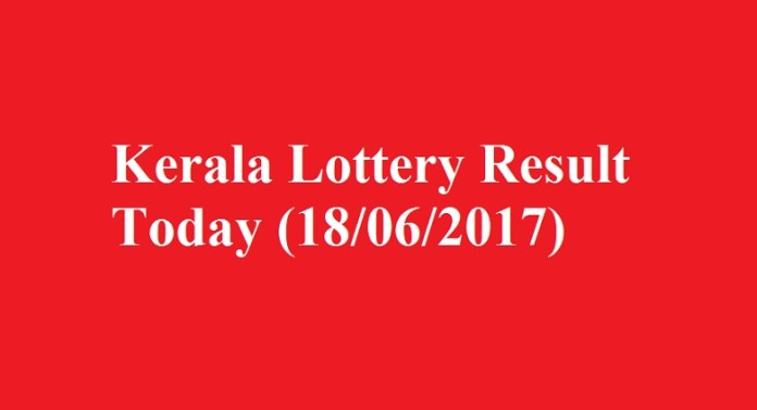 Kerala Lottery Result Today 18-06-2017