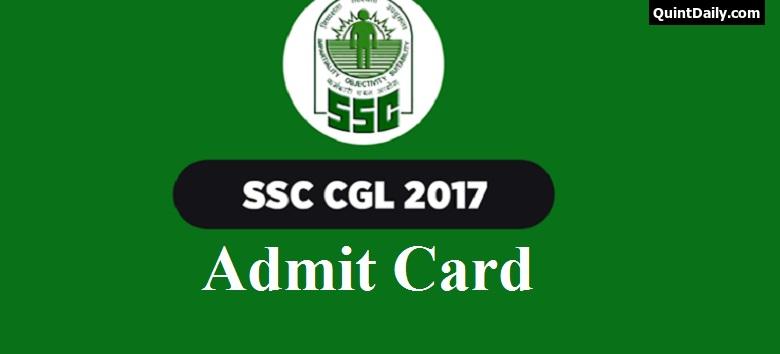 Ssc Cgl Admit Card: SSC CGL Admit Card 2017 / Hall Ticket