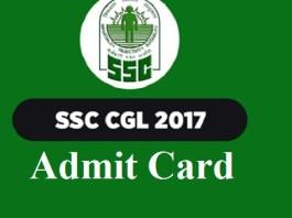 SSC CGL Admit Card 2017