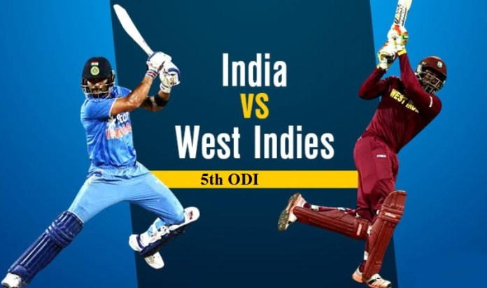 India vs West indies 5th ODI Result / Highlights