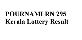 POURNAMI RN 295 Kerala Lottery Result Today