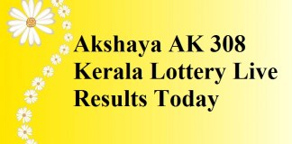 Akshaya AK 308 Kerala Lottery Live Results Today 30-8-2017
