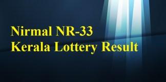 Nirmal NR33 Lottery Result