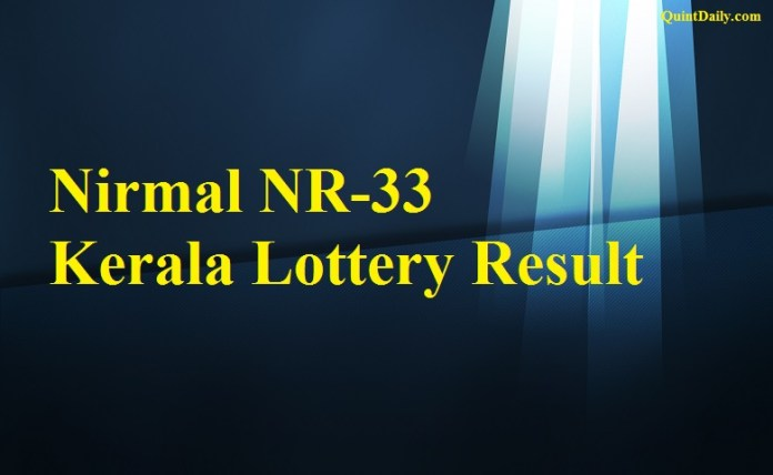 Nirmal NR33 Lottery Result