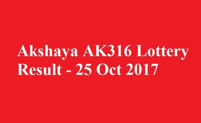 Akshaya AK316 Lottery Result
