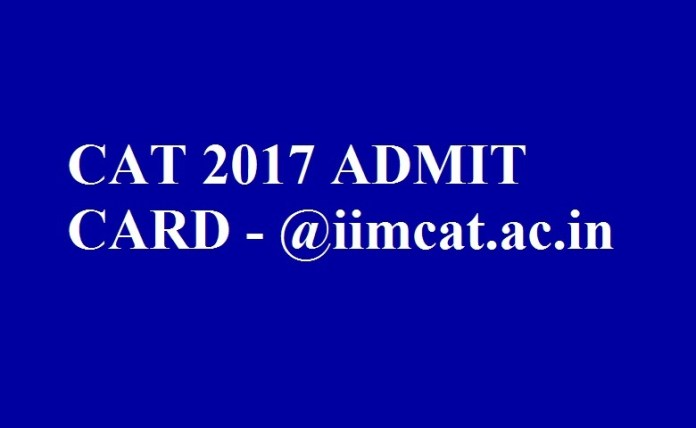 CAT 2017 Admit Card