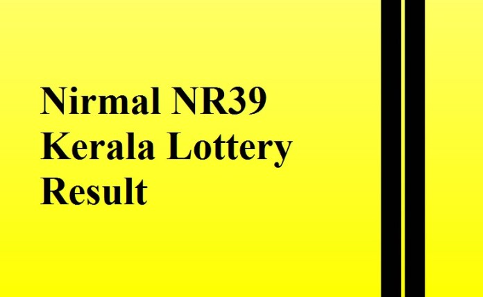 Nirmal NR39 Kerala Lottery Result