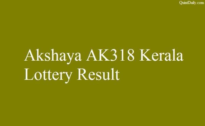 Akshaya AK318 Lottery Result