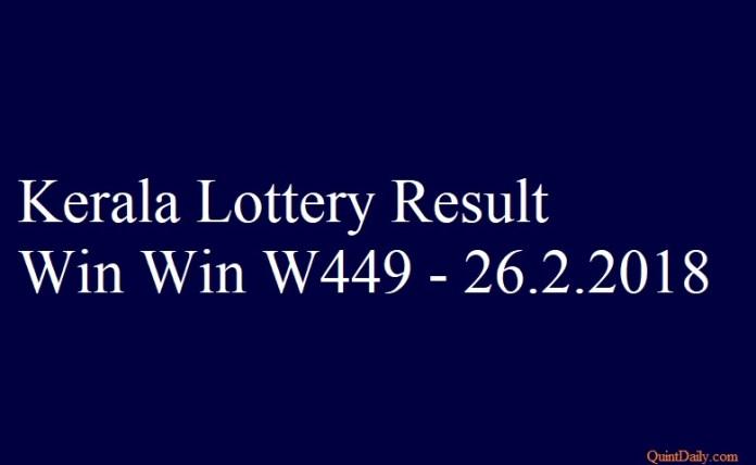 Win Win W449 #keralalotteryresult #winwinw449 #lotteryresult quintdaily.com