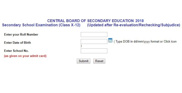 cbse result 2018 official