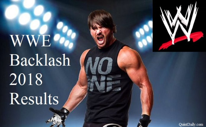 WWE Backlash 2018 Results