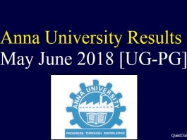 Anna University Result May June 2018 #education #annauniversity quintdaily