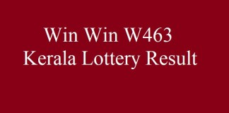 Kerala Lottery Result 4.6.2018 Win Win W463 Today
