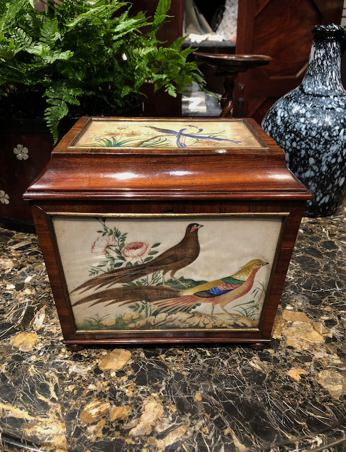 Tea Caddy at Cove Landing at the 2018 Winter Antiques Show