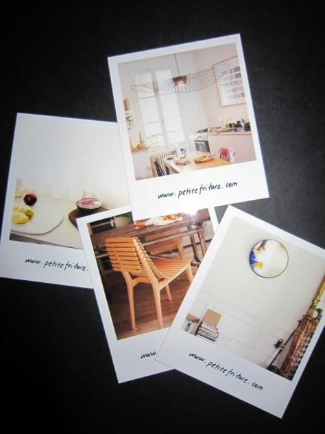 Polariodbilder på några av Petite Fritures produkter.