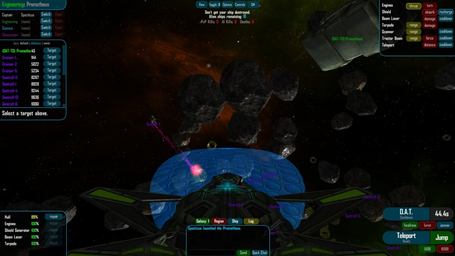 Quintet   Multiplayer Space Game Screenshots