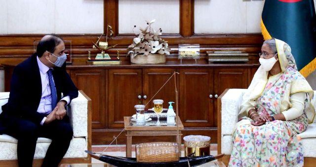 প্রধানমন্ত্রী শেখ হাসিনা ও পাকিস্তানি হাই কমিশনার ইমরান আহমেদ সিদ্দিকীর মধ্যে সৌজন্য সাক্ষাত্য়