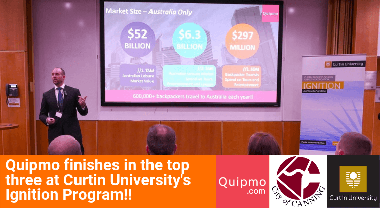 Quipmo Finishes in the Top Three at Curtin University's Ignition Program!