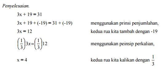 Matematika Dasar SBMPTN Tentang Persamaan Linear dan Pertidaksamaan Linear