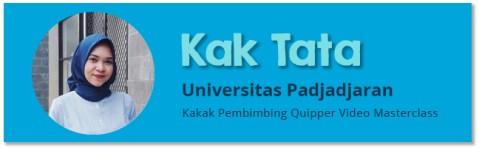 Kakak Pembimbing Quipper Video Masterclass - Tata