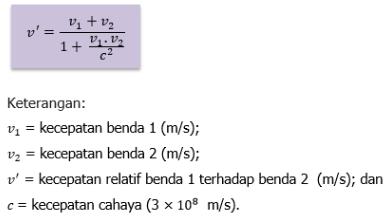 Relativitas Kecepatan