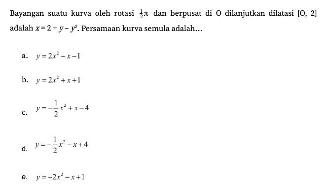Soal Matematika Saintek 2020