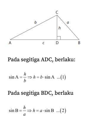 Aturan Sinus Cosinus Dan Luas Segitiga : aturan, sinus, cosinus, segitiga, Aturan, Sinus, Matematika, Kelas, Quipper