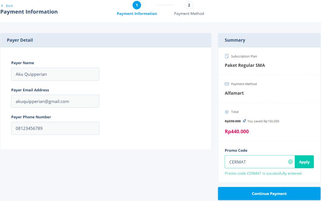 Daftar Quipper 4 Januari 2021 - Informasi Pembayaran & Kode Promo