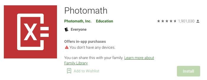 Aplikasi Matematika Photomath