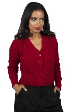 Red burgundy cardigan from Voodoo Vixen