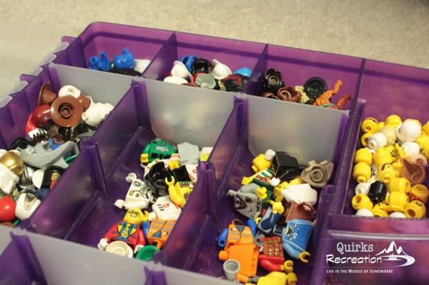 LEGO minifigures organization