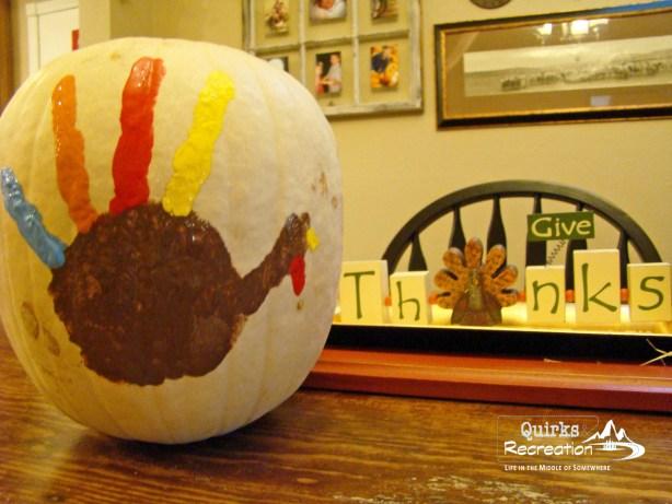 Pumpkin turkey handprint Thanksgiving