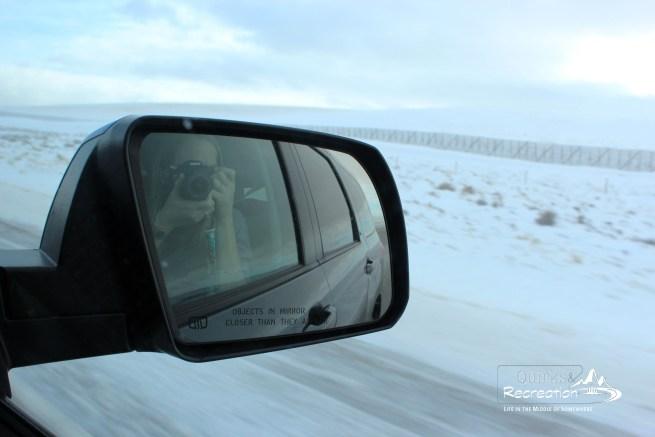 selfie in side mirror, photos passenger side