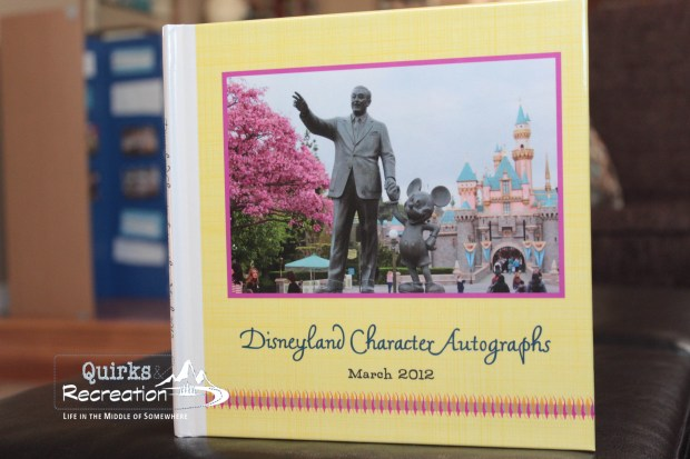 Disneyland character autograph book