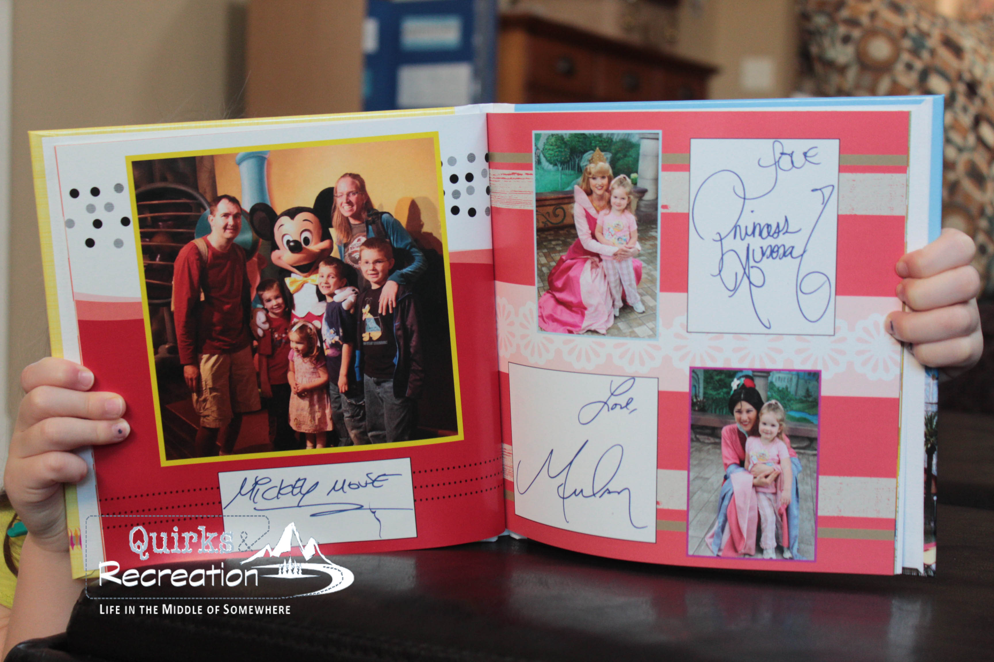 Mickey Mouse and princess photos and autographs