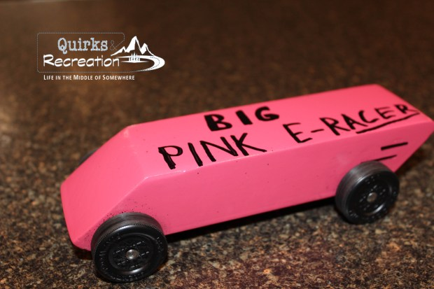 Pink Eraser - Cub Scout Pinewood Derby Car
