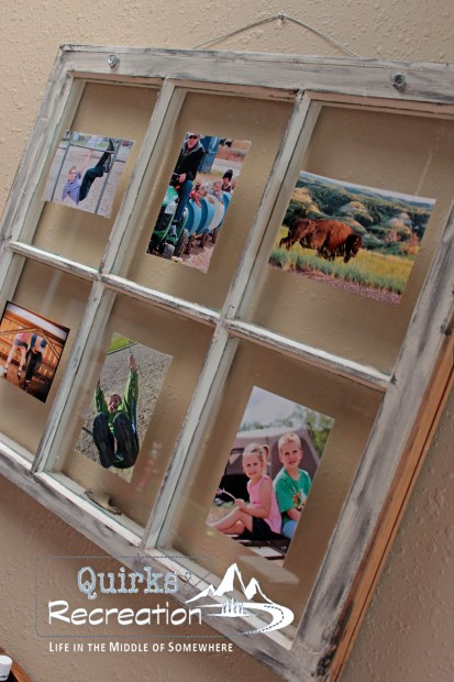 Repurposed Window as a Photo Frame