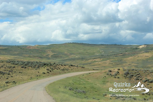 Scenic drive at Fossil Butte National Monument