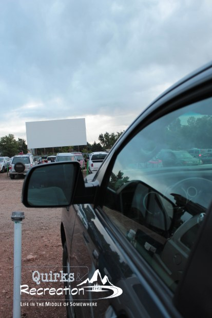 View from the car at Holiday Twin Drive-in -- Fort Collins, Colorado