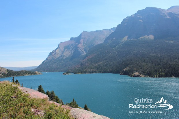 Clear, blue water of St. Mary Lake - Glacier National Park